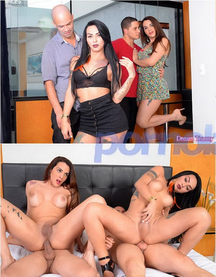 DreamTranny): (Melyna Merli, Nicolly Pantoja) - Foursome Fun [FullHD 1080p] (2.06 Gb)
