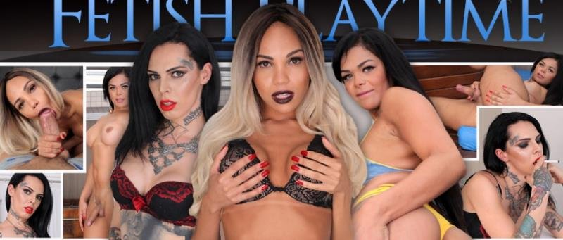 Trans500: (Gaby Ink, Ingrid Guimaraes, Rebecca Ferraz) - Fetish Playtime [HD 720p] (1.4 Gb)