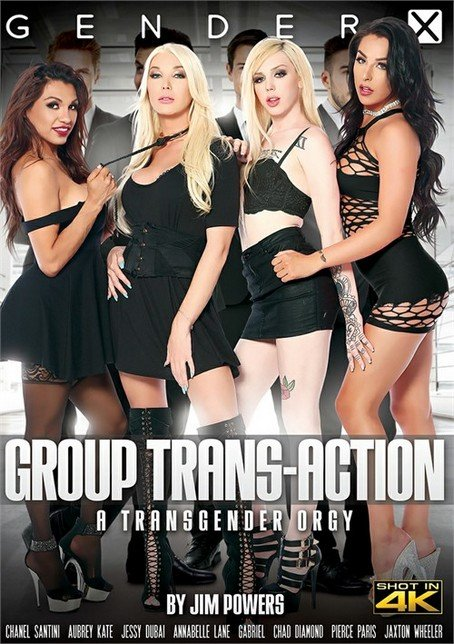 Gender X: (Chanel Santini, Jessy Dubai, Annabelle Lane, Aubrey Kate, Jaxton Wheeler, Chad Diamond, Gabriel) - Group Trans-Action [SD] (1.6 Gb)