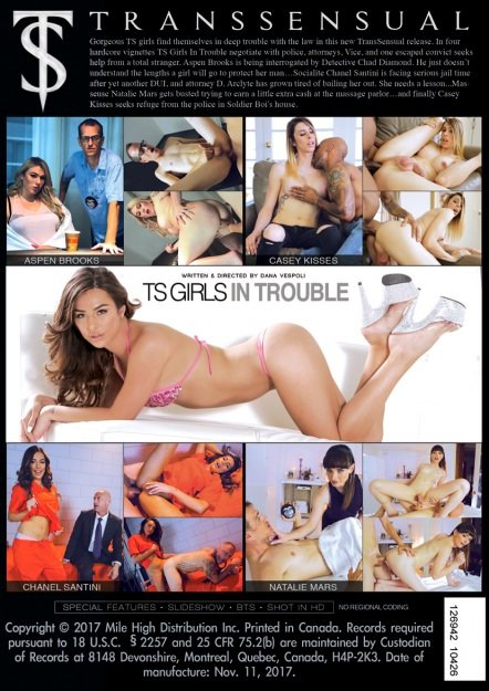 Transsensual: (Chanel Santini, Casey Kisses, Natalie Mars, Aspen Brooks) - TS Girls In Trouble [SD] (1.23 Gb)