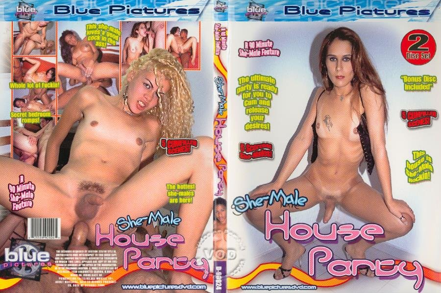 Blue Pictures: (Aline Santos, Clarissa D, Liane M, Ntevka C) - Shemale House Party [SD] (1.13 Gb)