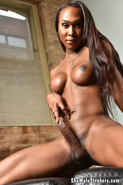 SheMaleStrokers.com: (Kayla Biggs) - Smokin Ebony Trans Girl Is Big Hard And Strokin Just For You! [SD] (291.96 Mb)
