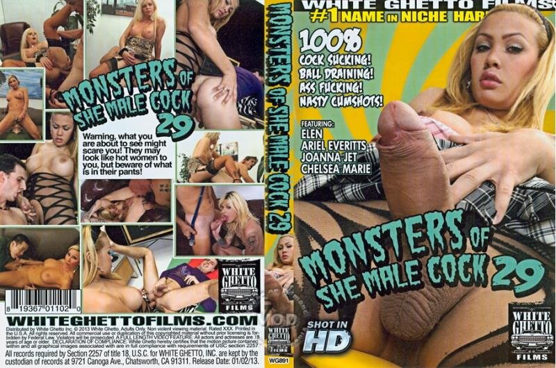 White Ghetto Films: (Joanna Jet, Ariel Everitts, Elen, Chelsea Marie) - Monsters of She Male Cock 29 [SD] (1.15 Gb)