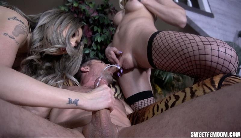 SweetFemdom.com: (Casey Kisses, Kat Dior, Lance Hart) - Butt Fucked and Drained by Casey and Kat [HD] (550.93 Mb)