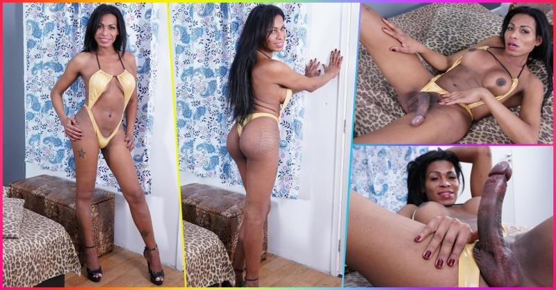 HotHotFilms: (Lia Dotada) - Big Dicked Latina Tgirl Masturbates And Fingers Her Ass [FullHD] (968.99 Mb)